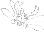 Mega Sylveon X  May revisit this later; the wings are a bit off. Otherwise, I'm extremely happy with how this turned out. There's another bow and...