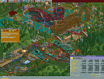 How to optimize Leafy Lake in RollerCoaster Tycoon:    1. Borrow all $50,000, and leave the entrance free  2. Set (max) research to roller coasters...