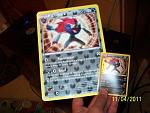 Jumbo Zoroark card and normal Zoroark card