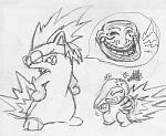 This is a somewhat accurate picture of what I see in my head when I troll Jenova in the RP room for the lulz. Usually he cries, but I thought it...